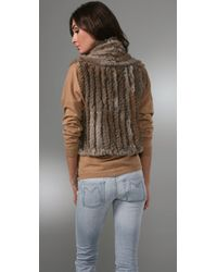 Marc By Marc Jacobs | Brown Wool and Rabbit Gilet | Lyst