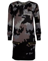 Markus Lupfer | Natural Camouflage Zip Dress | Lyst