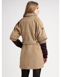 Opening Ceremony | Natural Shawl Collar Coat | Lyst