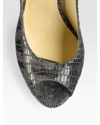 Ports 1961 | Black Stretch Wool Gabardine Dress | Lyst