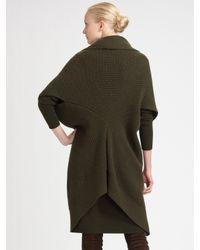 Ralph Lauren Black Label - Green Wrap Sweater Dress - Lyst