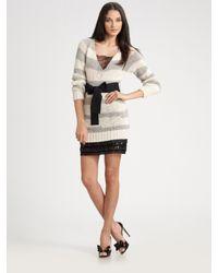 RED Valentino | Gray Alpaca Tunic Sweater | Lyst