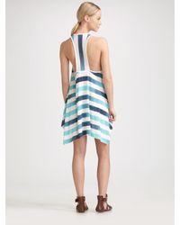 Splendid - Blue Asymmetrical Hem Tank Dress - Lyst