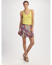 Diane von Furstenberg | White Zelie Crystal-embellished Printed Wool-blend Skirt | Lyst