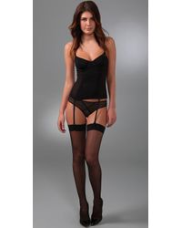 Kiki de Montparnasse - Black Sheer Corset Panty - Lyst