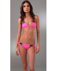 Mara Hoffman | Pink Embroidered Brazilian Bikini | Lyst