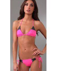Mara Hoffman - Pink Embroidered Brazilian Bikini - Lyst