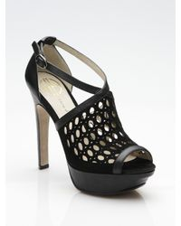House of Harlow 1960 | Black Peep-toe Sandals | Lyst