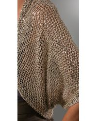 Alice + Olivia | Metallic Brianna Beaded Crochet Shrug | Lyst