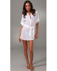 Thayer | White Shirtdress Cover Up | Lyst