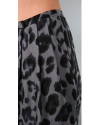 By Malene Birger - Gray Linexa Leopard Harem Pants - Lyst