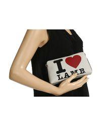 L.A.M.B.   White Signature Cosmetic Bag   Lyst