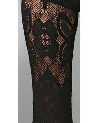 Nightcap - Black Lace Bell Bottom Pants - Lyst