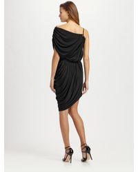 Catherine Malandrino - Black Asymmetrical Leather Strap Dress - Lyst