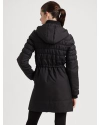 Joie   Black Ruched Puffer Coat   Lyst