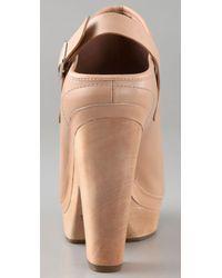 Belle By Sigerson Morrison - Natural High Heel Platform Clogs - Lyst