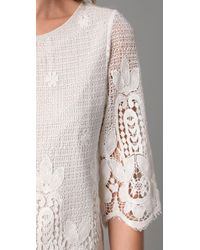 Beyond Vintage | White Embroidered Lace Blouse | Lyst