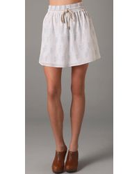 Charlotte Ronson | White Elastic Waistband Skirt with Rope Tie | Lyst