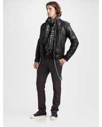 Converse | Black Washed Leather Jacket for Men | Lyst