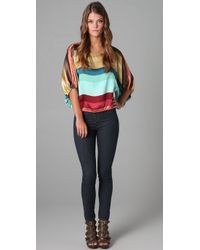 Beyond Vintage - Multicolor Striped Blouse - Lyst