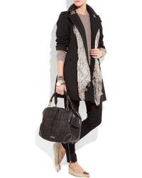 Burberry | Natural Peep-toe Leather Ballerina Flats | Lyst