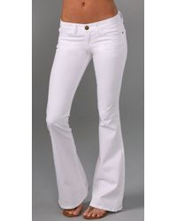 Current/Elliott | White Current/elliott Low Bell Bottom Jean in Sugar | Lyst