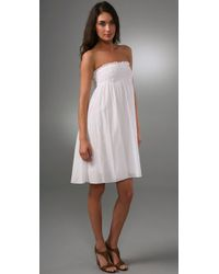 DKNY | White Pure Dkny Pull On Dress / Skirt | Lyst