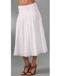 DKNY - White Pure Dkny Pull On Dress / Skirt - Lyst