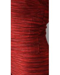 M Missoni - Red Space Dye Knit Jumpsuit - Lyst