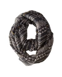 Michael Stars - Gray Stitched On Eternity Scarf - Lyst
