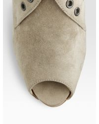 Christian Louboutin | Natural Desertiko Suede Ankle Boots | Lyst
