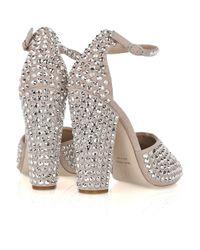 Giuseppe Zanotti - Metallic Crystal-embellished Suede Sandals - Lyst