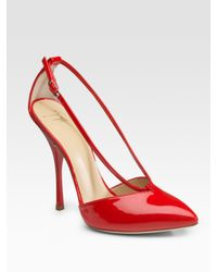 Giuseppe Zanotti | Red Patent Leather V-strap Pumps | Lyst