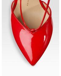 Giuseppe Zanotti - Red Patent Leather V-strap Pumps - Lyst