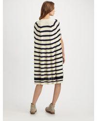 Junya Watanabe | Blue Knitted Cotton Poncho-style Dress | Lyst