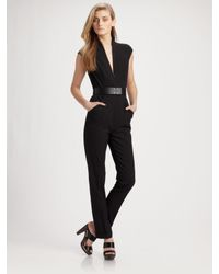 Martin Grant | Black Belted Straight Leg Jumpsuit | Lyst