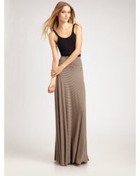 Rachel Pally | Gray Striped Maxi Skirt | Lyst
