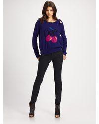 Sonia by Sonia Rykiel | Purple Cherie Intarsia Sweater | Lyst