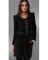 Plastic Island - Black Magic Tweed Jacket - Lyst