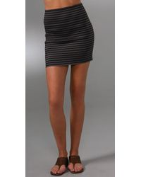 Pleasure Doing Business | Gray 4 Band Miniskirt | Lyst