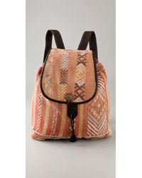 DANNIJO - Brown Moroccan Backpack - Lyst