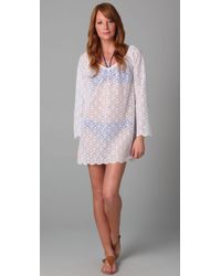 Shoshanna | White Crocheted Tunic | Lyst