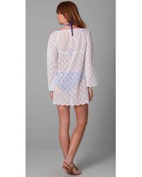 Shoshanna - White Crocheted Tunic - Lyst