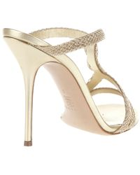 Casadei   Metallic Twist Detail Sandal   Lyst