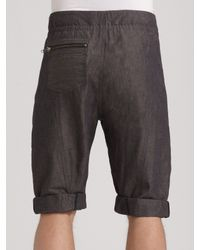 Richard Chai - Gray Drawstring Shorts for Men - Lyst
