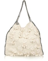 Stella McCartney | Beige Falabella Large Crochet Bag | Lyst