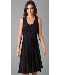Marc By Marc Jacobs - Black Silk Simone Sleeveless Dress - Lyst