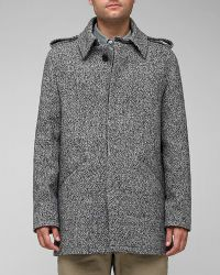 A.P.C. | Gray Manteau for Men | Lyst