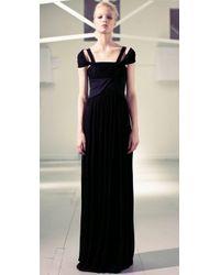 Preen By Thornton Bregazzi | Black Long Saloon Dress | Lyst
