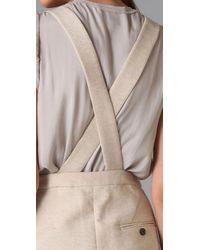 3.1 Phillip Lim - Natural Suspender Romper - Lyst